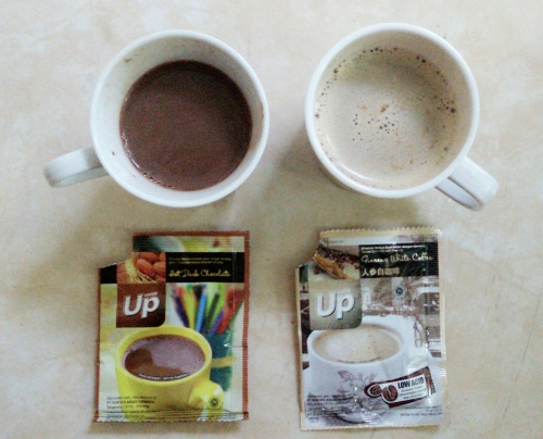 Up Hot Chocolate and Ginseng White Coffee for you and me :)