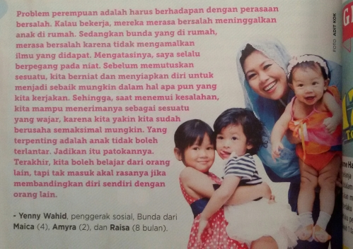 Taken from Ayahbunda No. 25 Edisi 15-28 Desember 2014 hal. 52