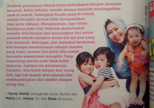 Taken from Ayahbunda No. 25 Edisi 15-28 Desember 2014 hal. 52