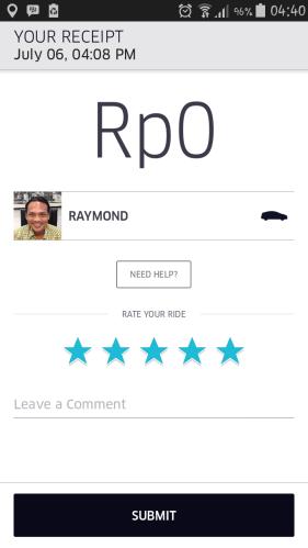 Feedback Matters Uber Taxi Jakarta